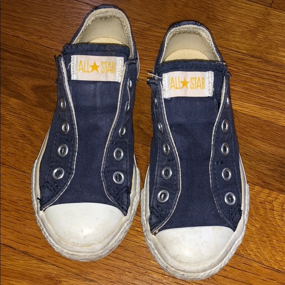 0dcaa6ad295f Converse Other - Converse All Star Blue Slip on Sneakers as 10.5